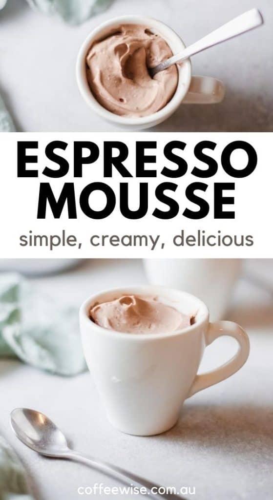Espresso coffee mousse recipe