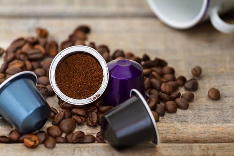 Italian espresso coffee capsules or coffee pods