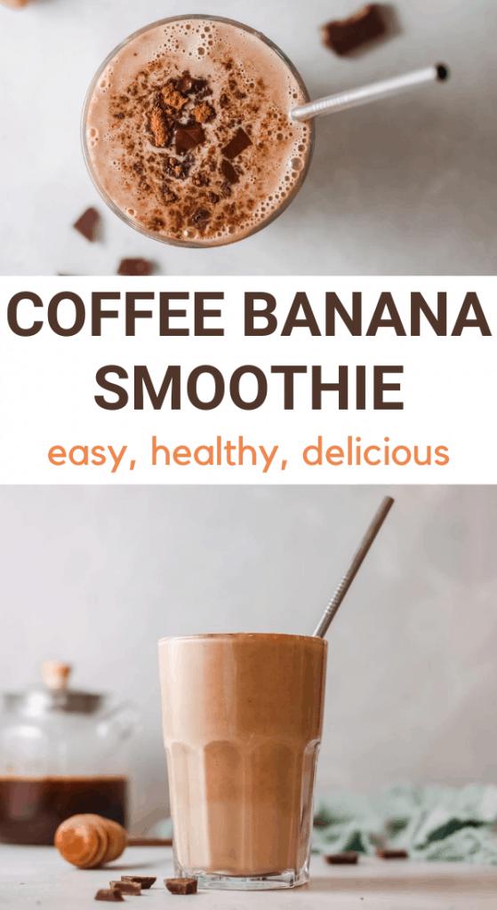 iced coffee banana smoothie