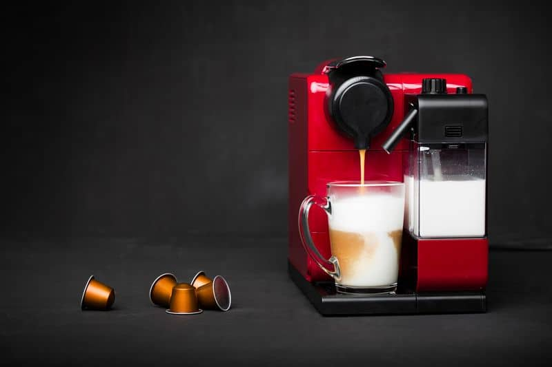 Cappuccino and capsule coffee machine