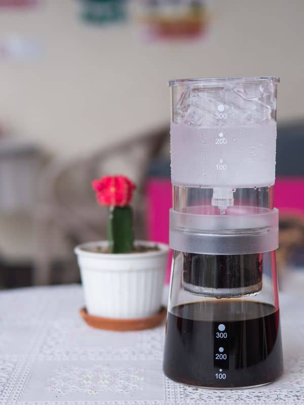 cold brew coffee maker on the table