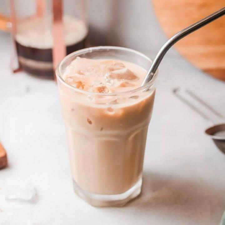 homemade iced espresso latte