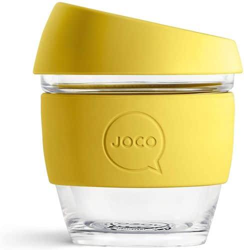 JOCO Glass reusable coffee cup 8 oz