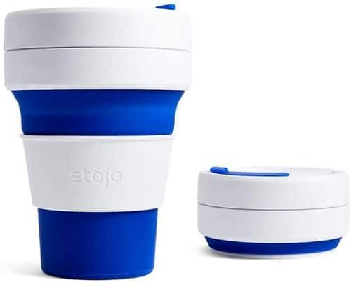 Stojo Pocket collapsible reusable coffee cup