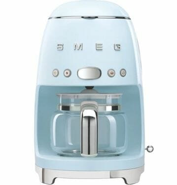 Smeg Retro Filter Coffee Machine Pastel Blue.