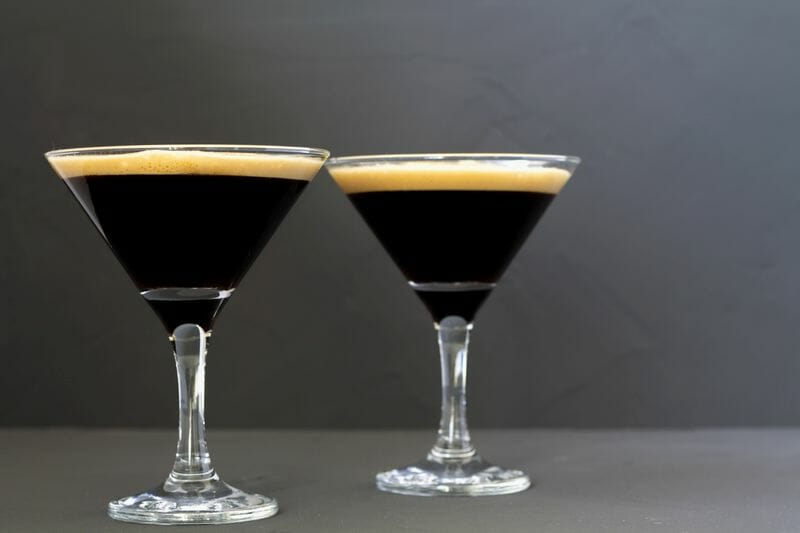 espresso martini in cocktail glass