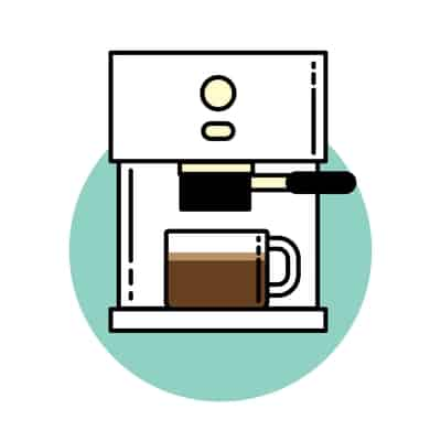 Espresso coffee brewing icon