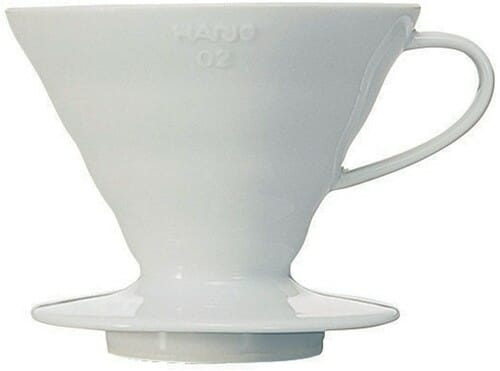 Hario v60 coffee dripper white