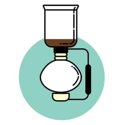 Siphon brewing method icon