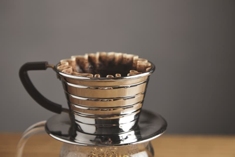 Kalita single cup pour over coffee brewer stainless steel